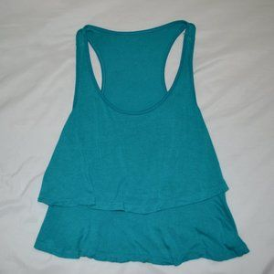 Turquoise Two Layer Tank Top